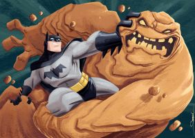 Batman v Clayface by alexsantalo