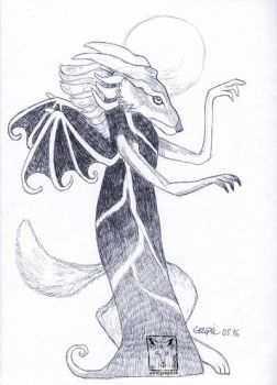 Fox beastie by dragonladych