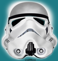 StormTrooper Helmet Painting by Syndrome-X