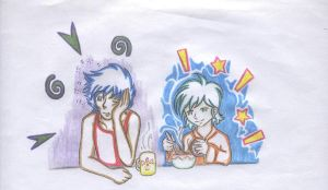 ikki and shun -breakfast- by Maoden-DOis