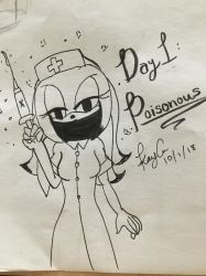Inktober Day 1 - Poisonous by KayceInk