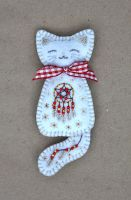 December kitten brooch by Ailinn-Lein