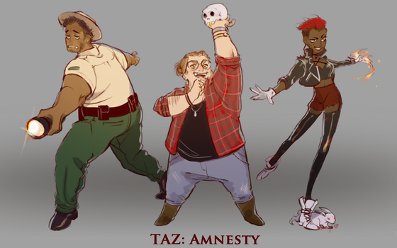 TAZ: Amnesty Designs by mangopuds