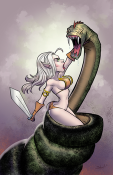 Kyra and the Snake by greasystreet