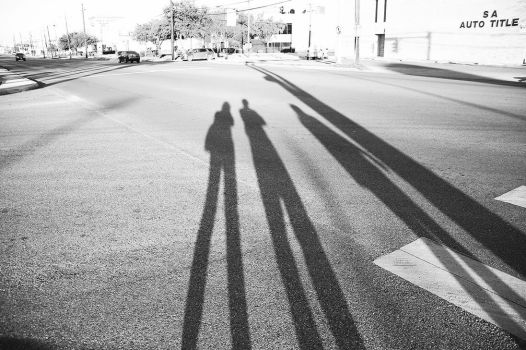 Our Silhouettes in San Antonio by mousiestmousy