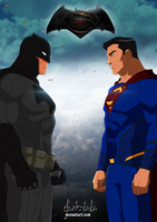 Batman v Superman poster - (Young Justice style) by dark-BuB