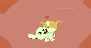 Happy Late Valentine Day, PigXChloe! by PigXChloe