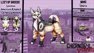[Chernobyl-Empires] Shiro Reference Sheet by SalamanderMoon