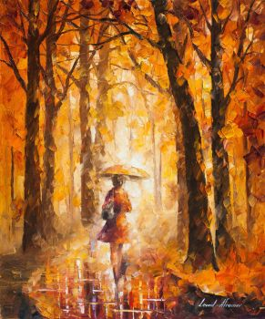 Reasons For Rain by Leonid Afremov by Leonidafremov