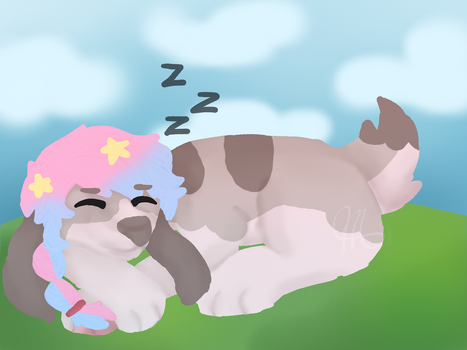 Sleepy Doggo (T) by EclipseDrawsAlot