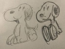 Quick pencil sketch #DrawSnoopy by MyHeartisanOpenBook