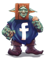 Cheeky FACEBook Goblin by thedarkcloak