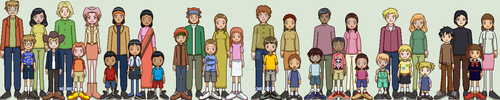 Digimon Americana Families by Brillonsloup