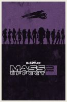 Mass Effect 2 poster by billpyle