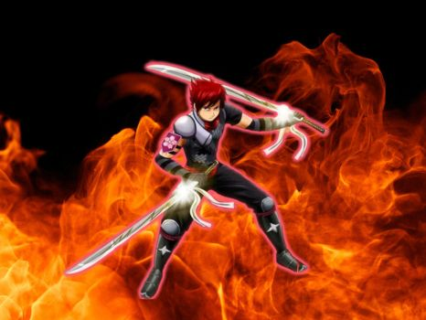 Rock Sedah The Fire Ninja by Ninjagirl16100