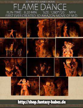 Cover Flame Dance 3D Movie by FantasyBabes