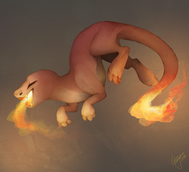 Fire Reptile by CasyNuf