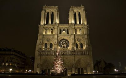 Notre-Dame winter's night 4 by Anantaphoto