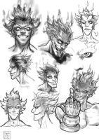 Overwatch: Junkrat study by Blade-Fury
