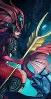 League of Legends: Nami by CrypticInk