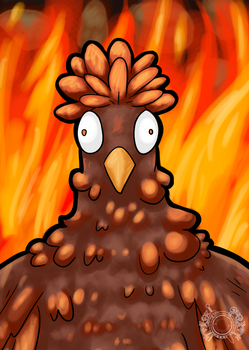 Chicken of the Inferno by Mr-Sage