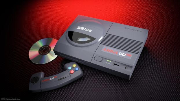 Commodore Amiga CD32 product shot recreated in 3d by zgodzinski