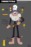 Forget!Tale Papyrus Design Refrence by SuperBecky