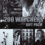 200 Watchers Gift Pack! by royalrockin