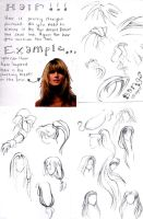 How to Draw Hair - Disclaimed by cookiebarlow