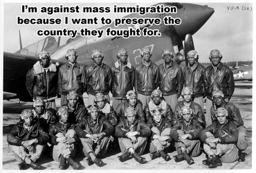 Tuskegee Airmen against mass immigration by Torkuda