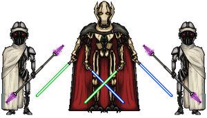 Star Wars - General Grievous and Guards by MrKinetix