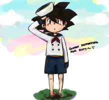 Goten Reporting for Duty! by WootI-EAT-BABIES