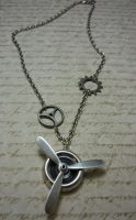 Steampunk Propeller Necklace by FusedElegance
