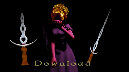 [MMD-WeaponDL]  Dagger by Metra-Philia