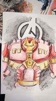 Hulkbuster Armor sketch by Noumier