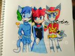 The Mystery Girl,Lil Mermaid,And The Power Ranger by Coffee-Karin