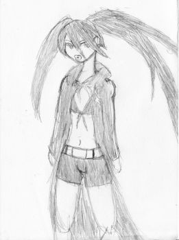 Black Rock Shooter-First Try by Cobrafire