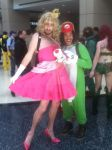 Peach and Yoshi C2E2 2014 by MagicalCrystalWings