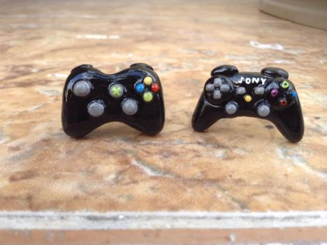 Xbox And Play Station bff/ couple rings by Saloscraftshop