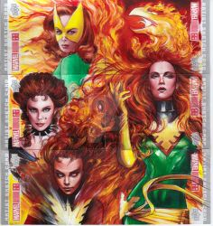 MARVEL ANNUAL 2017 PUZZLE SKETCH CARD - JEAN GREY by FredIanParis