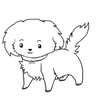 Puppy Lineart Free To Use by xArtDevilx