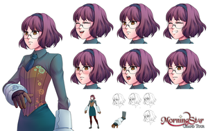 Serilda Character Sheet by Renmiou