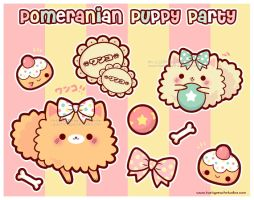 Pomeranian Puppy Party by MoogleGurl
