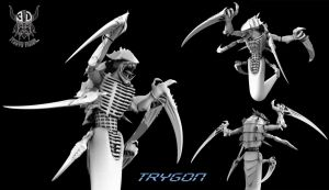 Trygon, The Tyranid Titan by TerronViking