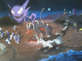 Colored Lavender Town Fight by magnifulouschicken
