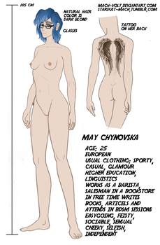 Reference sheet of May Chynovska by Mach-Volt