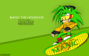 Manic The Hedgehog-Sonic Channel by XJessiePOPX