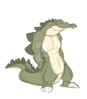 Meanie-Weanie Gator Thing by Eligecos
