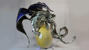 Dragon and Egg by HubcapCreatures