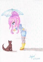Amy with a dog ~ by Amy-Chan-OC
